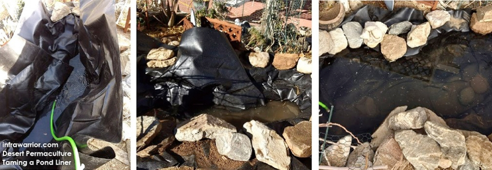 Taming a Pond Liner